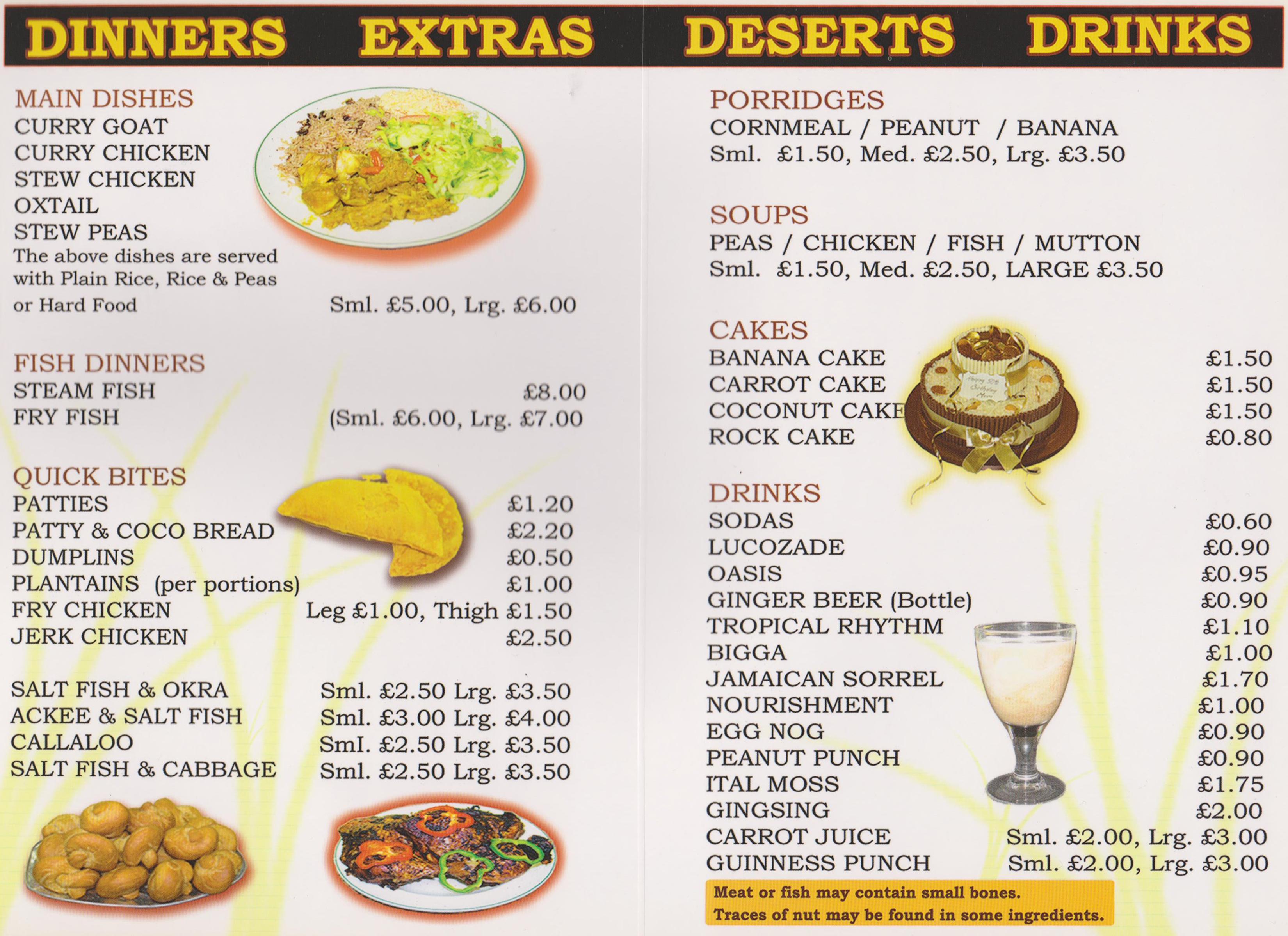 West indian food menu images for Perfect kitchen takeaway menu harrogate